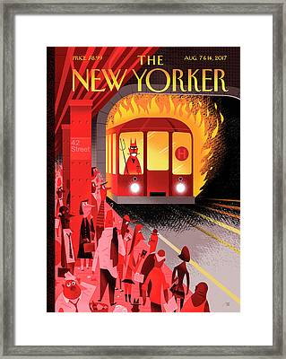Hell Train Framed Print