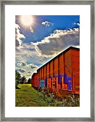 Hell Train Framed Print by William Wetmore