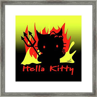 Hella Kitty Framed Print