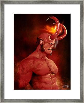 Hellboy Framed Print by Jason Longstreet