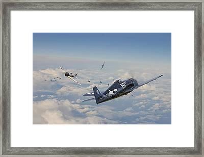 Hellcat F6f - Duel In The Sun Framed Print by Pat Speirs