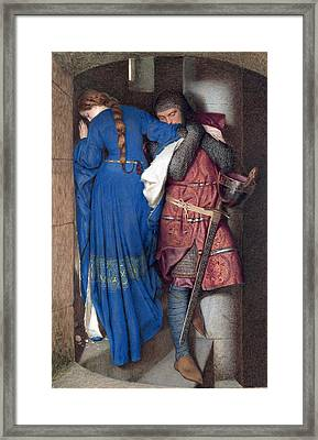 Hellelil And Hildebrand Or The Meeting On The Turret Stairs Framed Print