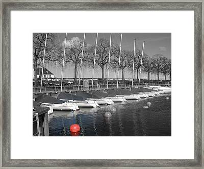 Hellerup Marina Framed Print by Michael Canning