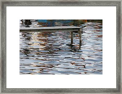 Helleruphavn Jetty Framed Print by Michael Canning