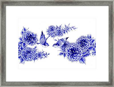 Hello And Good Morning Framed Print by Alice Chen