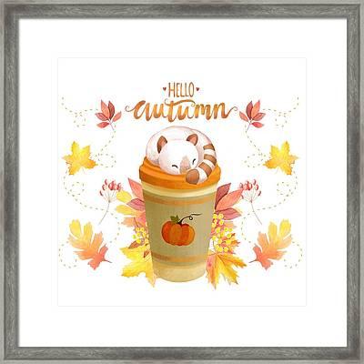 Hello Autumn Framed Print