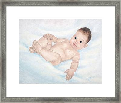 Hello Baby Framed Print by Cathy Cleveland