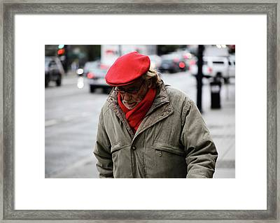Framed Print featuring the photograph Hello Bonjour  by Empty Wall