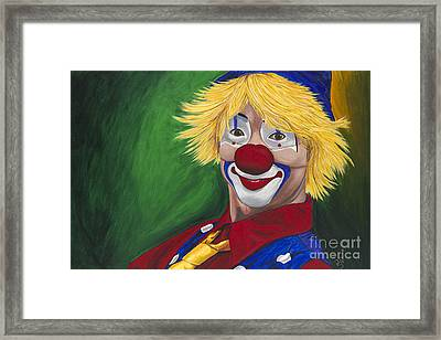 Hello Clown Framed Print by Patty Vicknair
