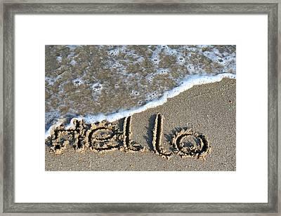 Hello Framed Print by Dorothy Cunningham