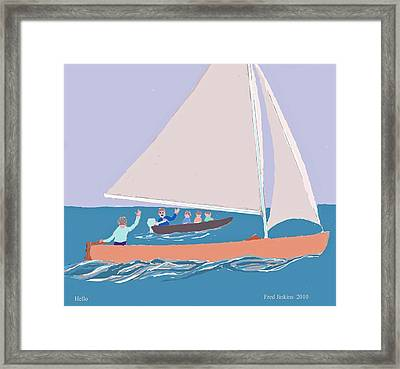Hello Framed Print by Fred Jinkins