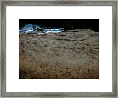 Hello I Heart U Framed Print