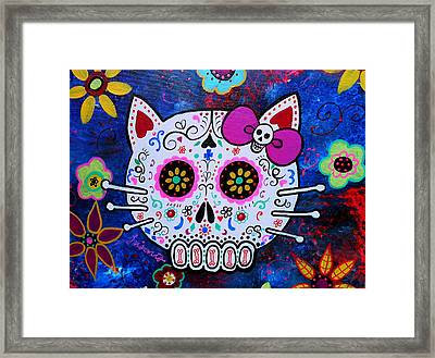 Kitty Day Of The Dead Framed Print