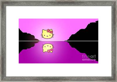 Hello Kitty Sunrise Framed Print