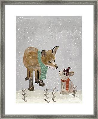Framed Print featuring the painting Hello Mr Fox by Bri B