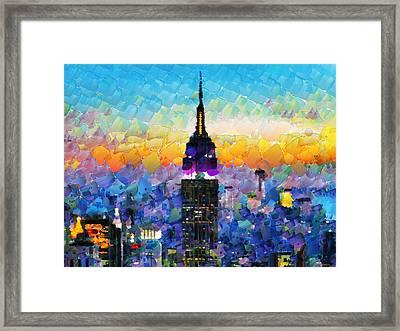 Hello New York Framed Print