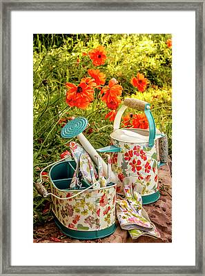 Framed Print featuring the photograph Hello Summer by Teri Virbickis