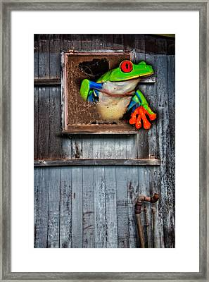Framed Print featuring the photograph Hello World by Harry Spitz