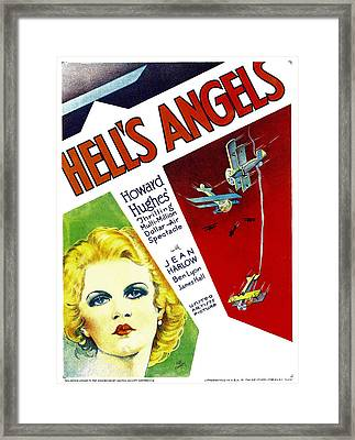 Hells Angels, Jean Harlow On Window Framed Print