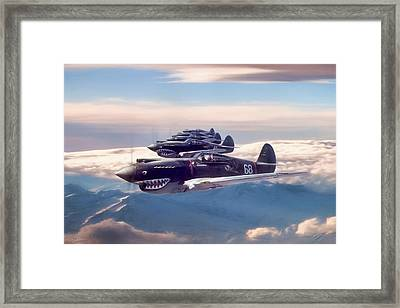 Hell's Angels Framed Print by Peter Chilelli