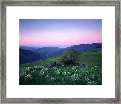 Hells Canyon Sunrise Framed Print by Leland D Howard