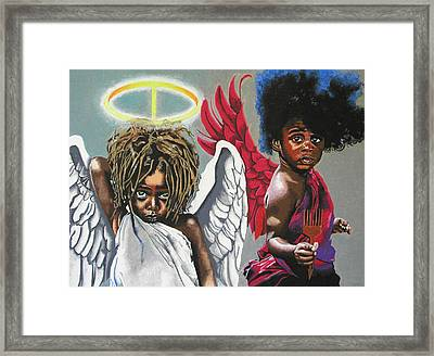 Hells Little Angels Framed Print by Andre Ajibade