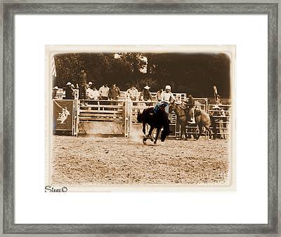 Helluva Rodeo-the Ride 2 Framed Print