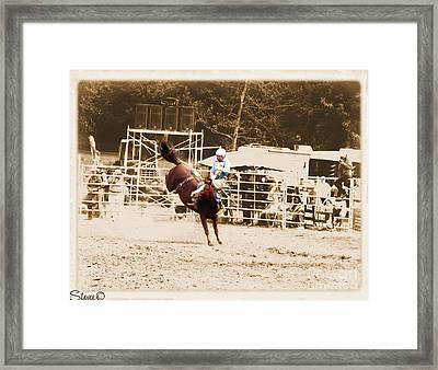 Helluva Rodeo-the Ride 3 Framed Print
