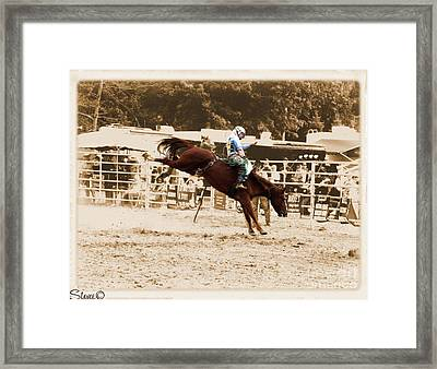 Helluva Rodeo-the Ride 4 Framed Print