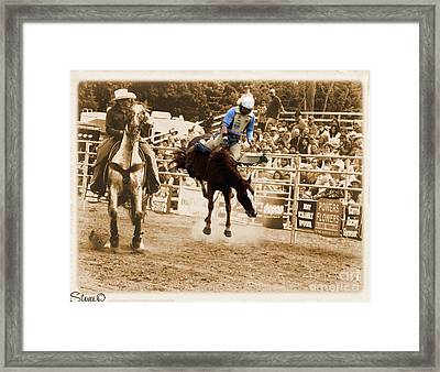 Helluva Rodeo-the Ride 5 Framed Print