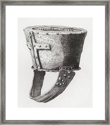 Helmet, From Castle Pomeroy, England Framed Print