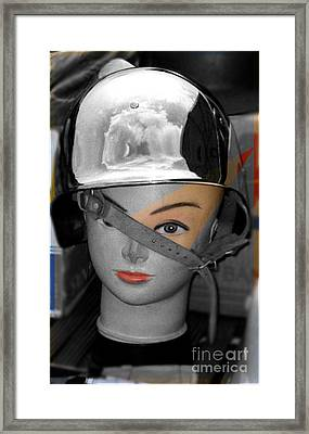 Helmet Framed Print by Sascha Meyer