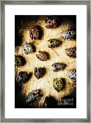 Helmets From The Iron Guard Framed Print