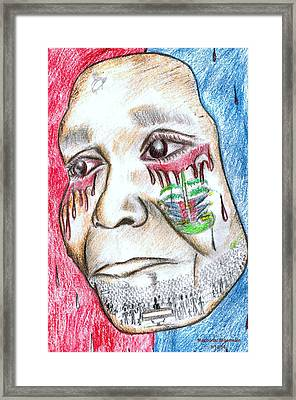 Help Haiti  For A Better Future  Framed Print by HPrince De Artist