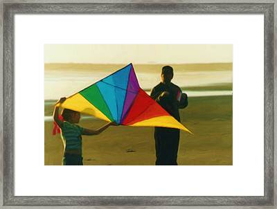 Help Me Fly Framed Print by Shelley Bain
