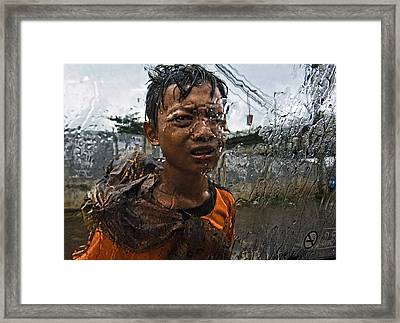 Help Me, Please ! Framed Print by Joxe Inazio Kuesta Garmendia