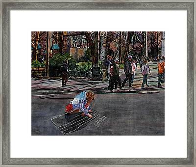 Help Framed Print by Valerie Patterson