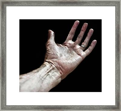 Helping Hand Framed Print by Martin Newman
