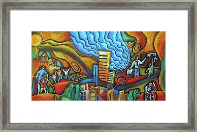 Helping Hand Of Jewish Community Framed Print