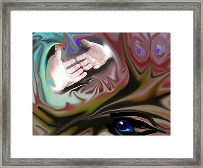 Helping Hands Abstract Framed Print by Cathy Kaiser
