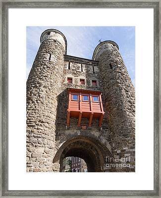 Helpoort Or Hell's Gate In The Old City Wall Maastricht Framed Print