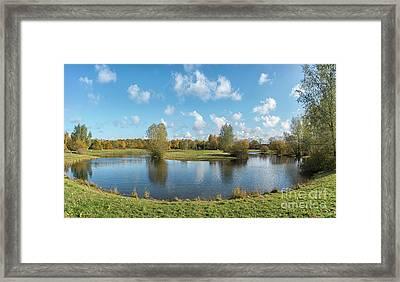 Helsingborg Barnskogen Lake Framed Print
