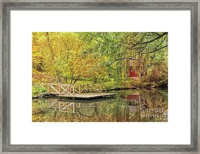 Helsingborg Jordbodalen Forest Pond Framed Print