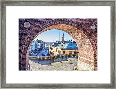 Helsingborg Through The Archway Framed Print