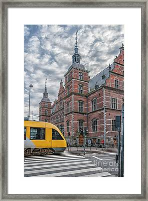 Framed Print featuring the photograph Helsingor Train Station by Antony McAulay