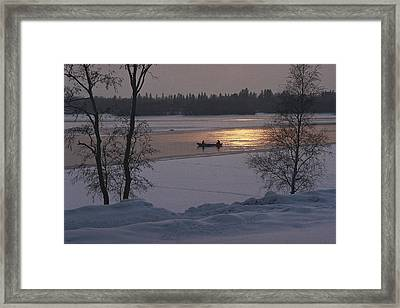 Helsinki, Finland. People Sitting Framed Print by Keenpress