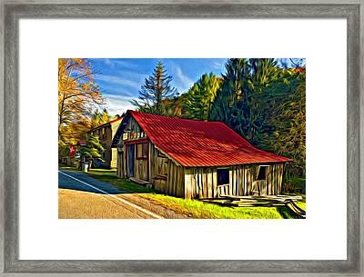 Helvetia - Paint Framed Print by Steve Harrington