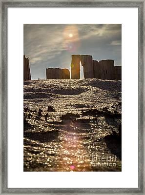 Helvick Beach Wooden Barrier 2 Framed Print