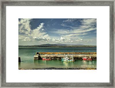 Helvick Harbour Framed Print