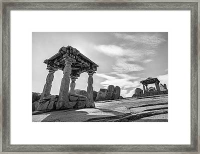 Hemakuta Hill, Hampi, 2017 Framed Print by Hitendra SINKAR